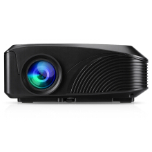 Excelvan LED Portable Projector 3D Home Theater Outdoor Movie Traveling Black