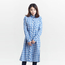 MIYOSHI JEANS MY17SH011PN Checkers Long Shirt - Blue