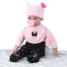 Reborn Silicone Baby Dolls Toddler Toys 50cm Pink