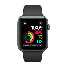 APPLE Watch Series 2 38mm MP0D2 Space Gray Aluminum Case with Black Sport Band