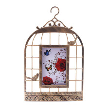 BLOOM & BLOSSOM Frame Bird Cage Gold - 22x35Cm