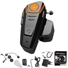 BT-S2 1000m Bluetooth Headset Motorcycle Intercom Auto Answer FM Radio Interphone with 300 Hours Long Standby EU PLUG