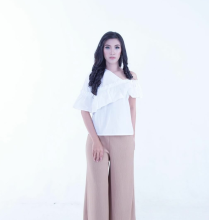 Rianty Basic Atasan Wanita Blouse Monica - White White All Size