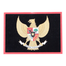 Tactical Series Velcro Patch 9 x 6.5 cm - Garuda Pancasila - Black Red