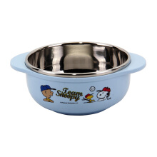 LOCK & LOCK Snoopy Baseball Stainless Soup Bowl With Handle LSP478