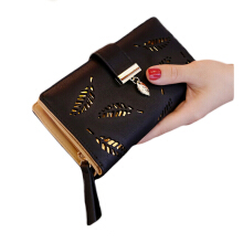 Aamour Leaf Wallet - Black