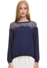 INSTYLE BY SURI Jillie Top Blue - Blue Blue All Size