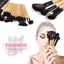 Pro 24 Pcs Makeup Brush Cosmetic Tool Kit Eyeshadow Powder Brush Set + Case