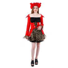 HOUSE OF COSTUMES Pretty Pirate Queen W-0164 - Red