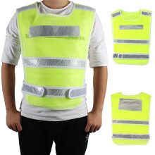 PAO MOTORING High Safety Security Visibility Reflective Vest Reflective Tape Construction Traffic/Warehouse Light Red/Yellow NEW