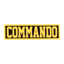 Tactical Series Velcro Patch 2.5 x 9 cm - COMMANDO - Black Yellow