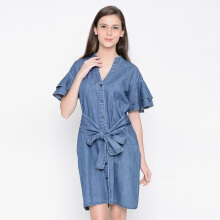 A&D Ladies Long Dress Ms 972 - Blue