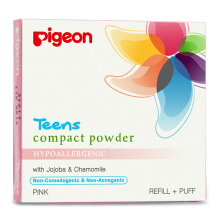 PIGEON TEENS Refill Compact Powder Hypoallergenic Pink 20g