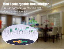 Top - 200 Rechargeable Mini Dehumidifier Cordless Absorbing Moisture WHITE US PLUG