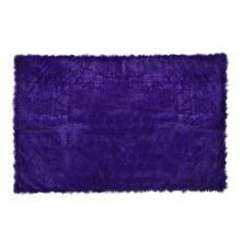 GLERRY HOME DÉCOR Square Purple Fur Rug - 150x100Cm
