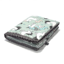 LA MILLOU Minky Calming Thick Blanket (Large) - Unicorn Rainbow Knight Galaxy Grey XB083GY