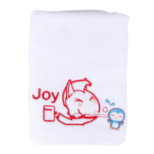 JOYHOME Sport Towel Brush Time with Penguin 40x70cm 550gsm - White