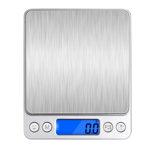JDwonderfulhouse 2000g High Precision Kitchen Electronic Scales - Silver