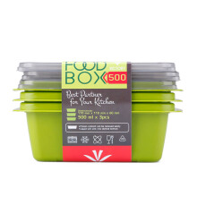 VICTORYHOME Food Box 500ml Set of 3 - Green