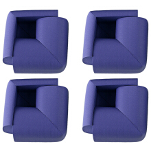 8pcs Thick Table Corner Cushion Anti-crash Baby Safety Guard Gray SAPPHIRE BLUE