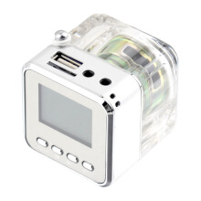 Mini Speaker LCD HiFi Music MP3/4 Player TF Card USB Disk FM Radio