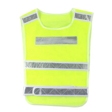 PAO MOTORING Safety Security Visibility Reflective Vest Reflective Tape Construction Traffic/Warehouse [ Light Red/Yellow 5pcs ]