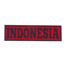 Tactical Series Velcro Patch 2.5 x 9 cm - Indonesia - Red Black