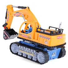 Children Flashing Wheel Musical Excavator Builder Machine Car Toy
