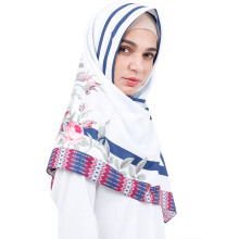 KAMILAA by ITANG YUNASZ Square Hijab - Flower in Line