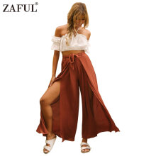 Zaful Sexy Ruffle Floral Print Jumpsuit Woman Deep V Neck Casual Leisure Rompers