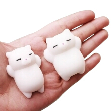 Cute Cartoon Lazy Sleeping Cat TPR Squishy Toy Funny Stress Reliever Relaxation Gift Decor