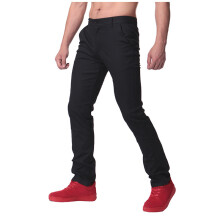 INCERUN Men's Casual Cargo Work Long Staight Trousers - Black