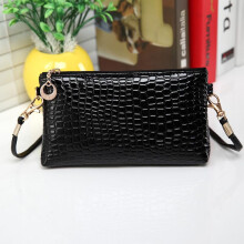 BESSKY Women Crocodile Leather Messenger Crossbody Clutch Shoulder Handbag-