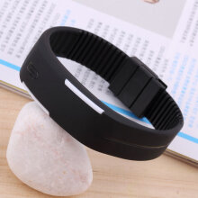 Men Women New Fashion LED Luminous Touch Silicone Bracelet Digital Wrist Watch