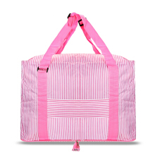 Large Capacity Stripe Style Storage Folded Travel Bag