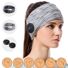 Bluetooth Magic Headphone Headband Sweatband for Women  Man Running Yoga Workout Sleeping Fitness Cycling Multi-functional