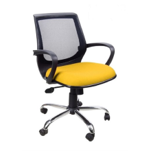 Ivaro - Kursi Kantor Paris L Chrome - Yellow Yellow big