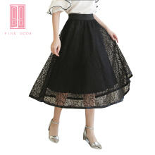 Pink Door Black Lacely Skirt Black All Size