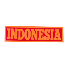 Tactical Series Velcro Patch 2.5 x 9 cm - Indonesia - Red Orange