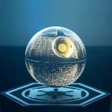 DISNEY - Star Wars Death Star Levitating Speakers Silver