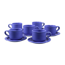 BRILIANT Cup&Saucer 12pcs - Biru/GM003