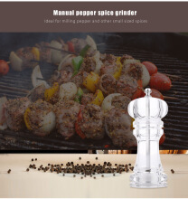Transparent Acrylic Pepper Spice Manual Grinder Cooking Tool TRANSPARENT SMALL