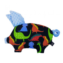 LA MILLOU Sleepy Pig Pillow - Jurassic Monte Carlo Blue SP077SK