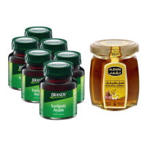 BRAND'S Saripati Ayam Original 70g x6 botol + AL SHIFA Natural Honey 125 gr