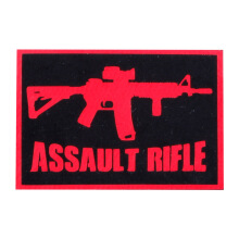 Tactical Series Velcro Patch 5 x 7.25 cm - ASSAULT RIFLE - Black Red