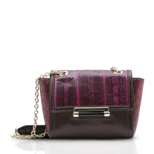 Diane Von Furstenberg 440 Mini Block Color Snake/Leather - Fetish Pink [H2247079G14]