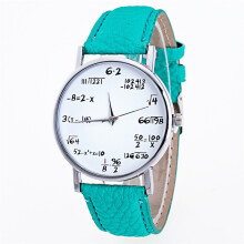 BESSKY Fashion Girls Pattern Leather Band Analog Quartz Vogue Watches -