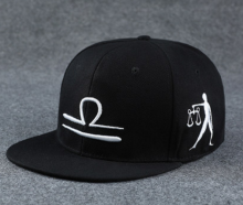 BAI B-110 Adjustable Baseball Cap MBL Hiphop cap with Libra design black&white color