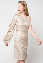Bel.Corpo Puffy Chloe Dress - Gold