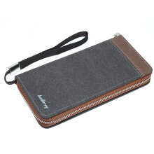 New Vintage Men's Practical Multi-functional Long Canvas Wallet Card Holders